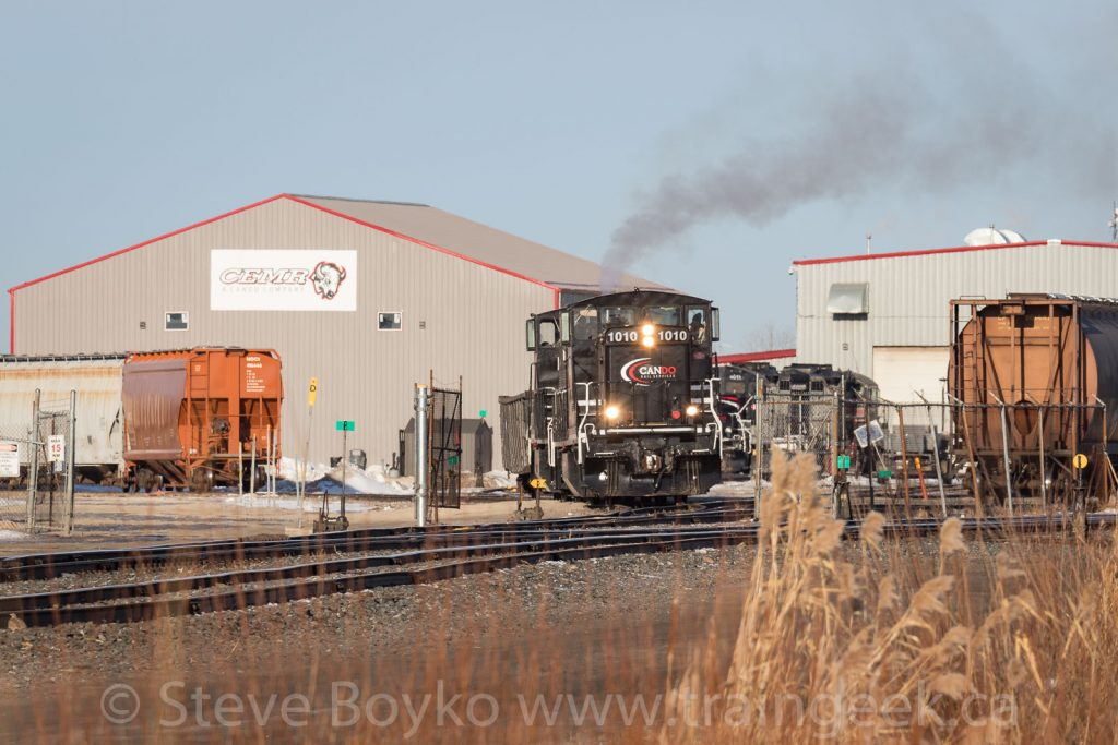 CCGX 1010 at CEMR's yard in North Transcona