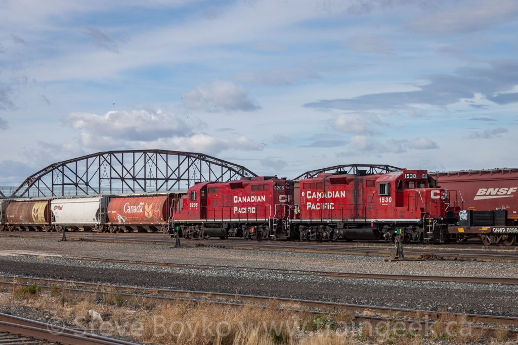 CP 1530 and 8205 in Winnipeg