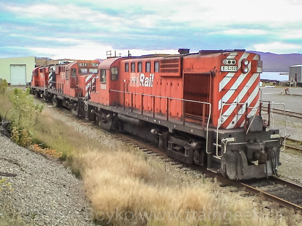 NBEC 1868 and 1834 in Campbellton, NB, October 6, 2003.