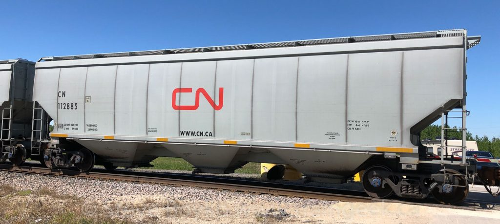 CN 112885, built by National Steel Car in Hamilton, Ontario