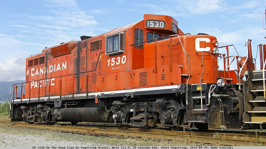 CP 1530 at the Coquitlam Diesel Shop. Photo by Andy Cassidy.