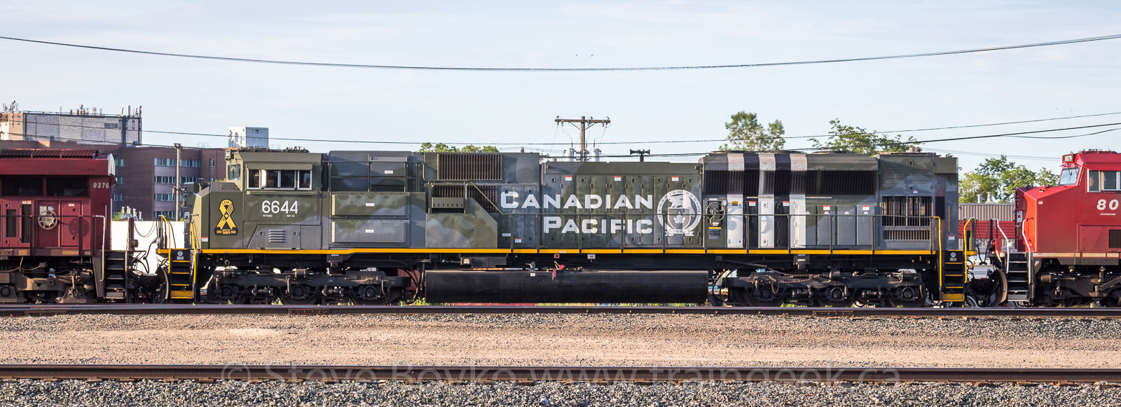 CP 6644 in Winnipeg, July 3 2020