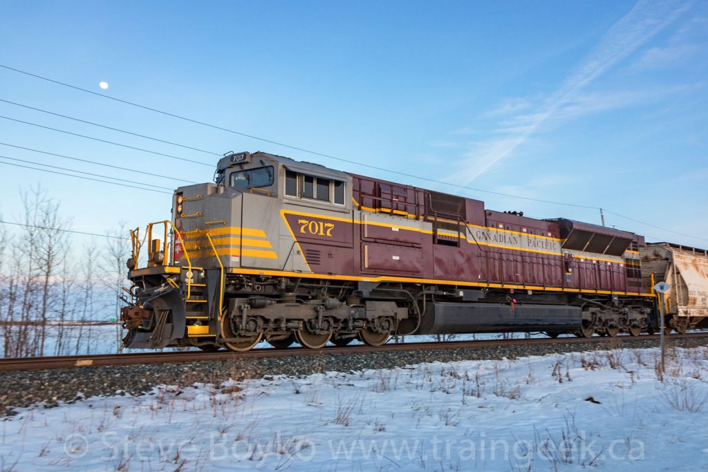 CP 7017 bringing up the rear