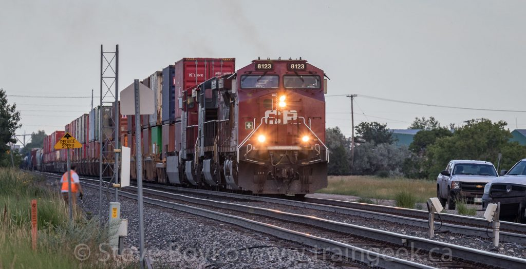 CP 119 starting to depart Winnipeg