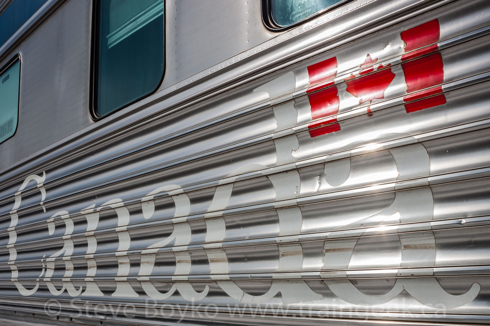 Canada and the Flag on a railway car