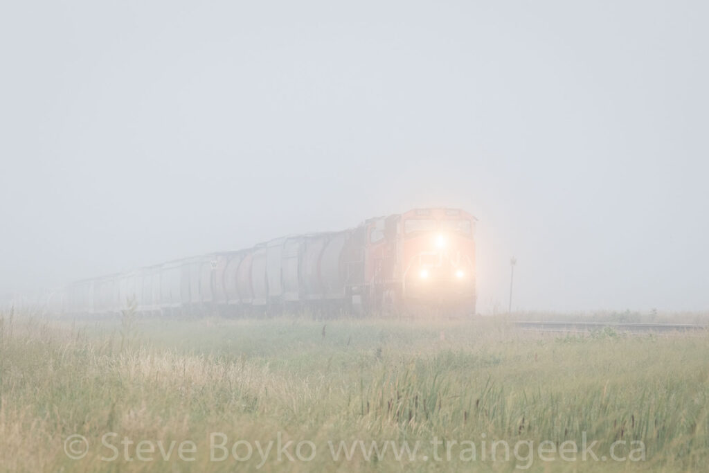 CN 2265 East in the fog
