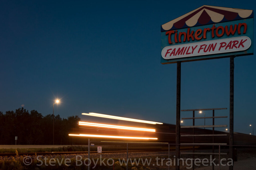 CN 2982 by the Tinkertown sign