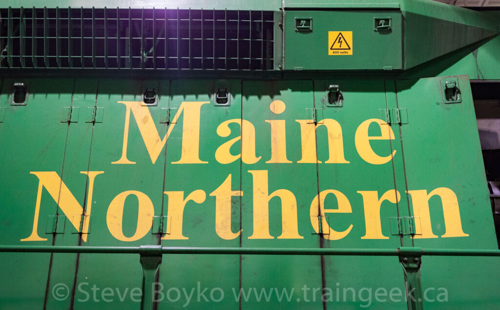 Maine Northern lettering on NBSR 9803, April 2012