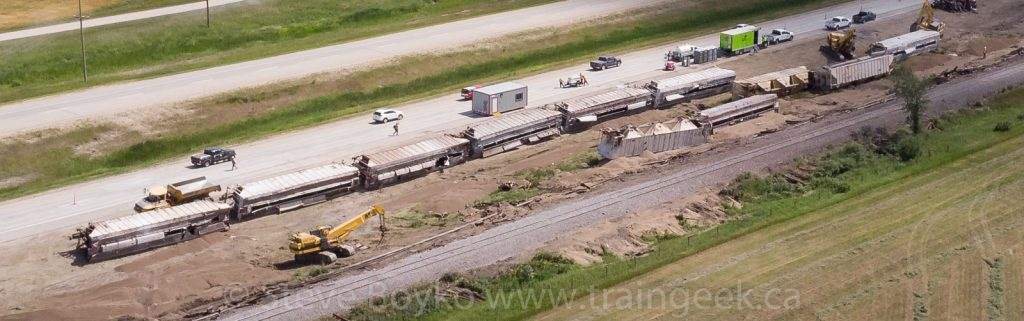 Sorting cars by the derailment site