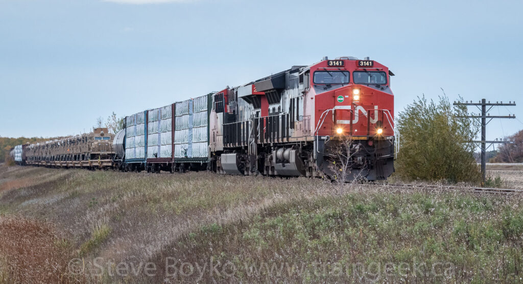 CN 3141 leading the charge