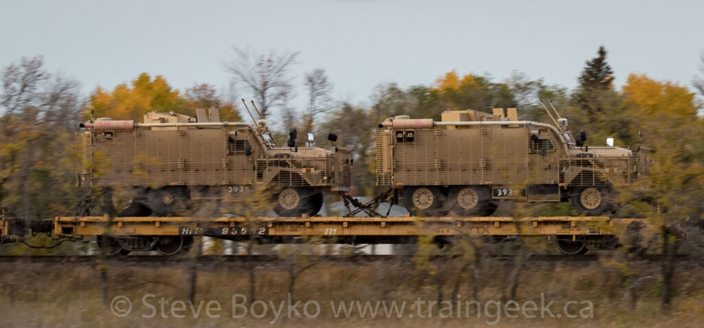 Mastiff vehicles on flatcar (MOFC)