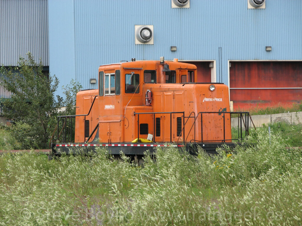 Abitibi-Price locomotive in Chandler