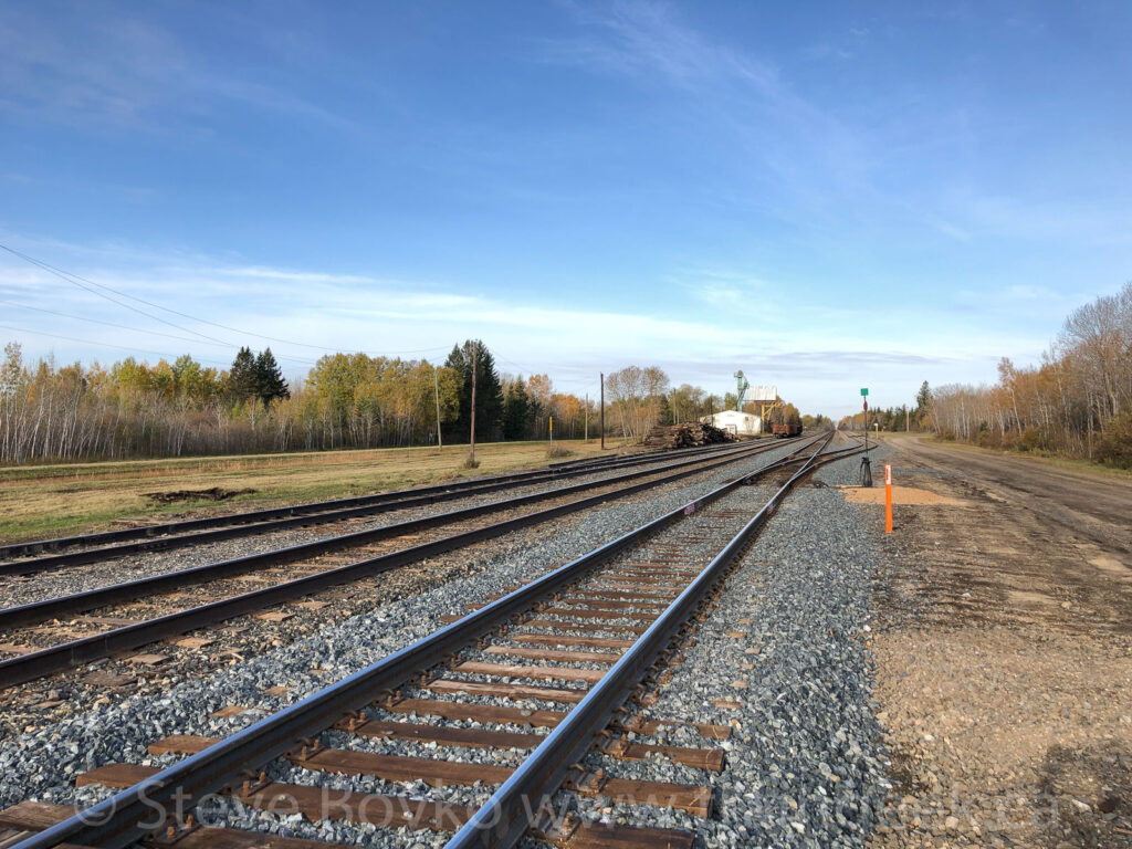 Almost empty track at Molson, MB