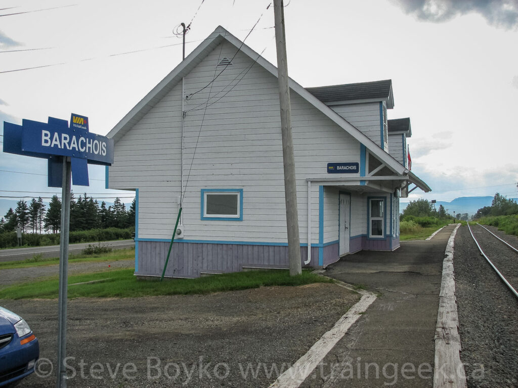 The train station at Barachois, Quebec