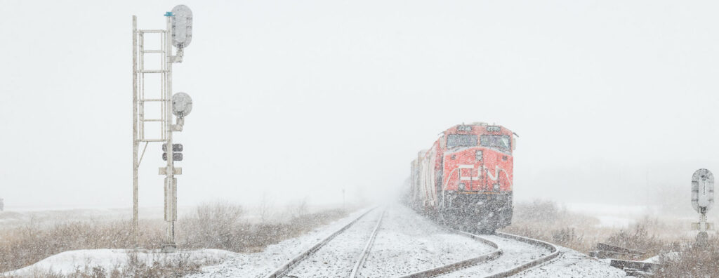 CN 2236 in the siding at Lorette