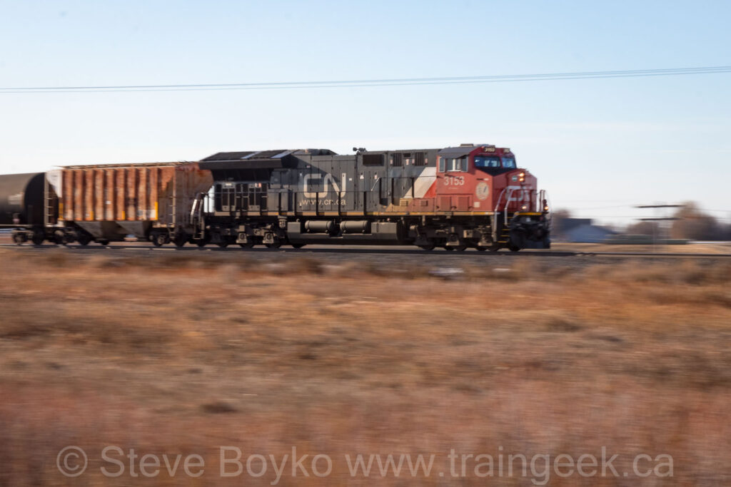 CN 3153 speeding along