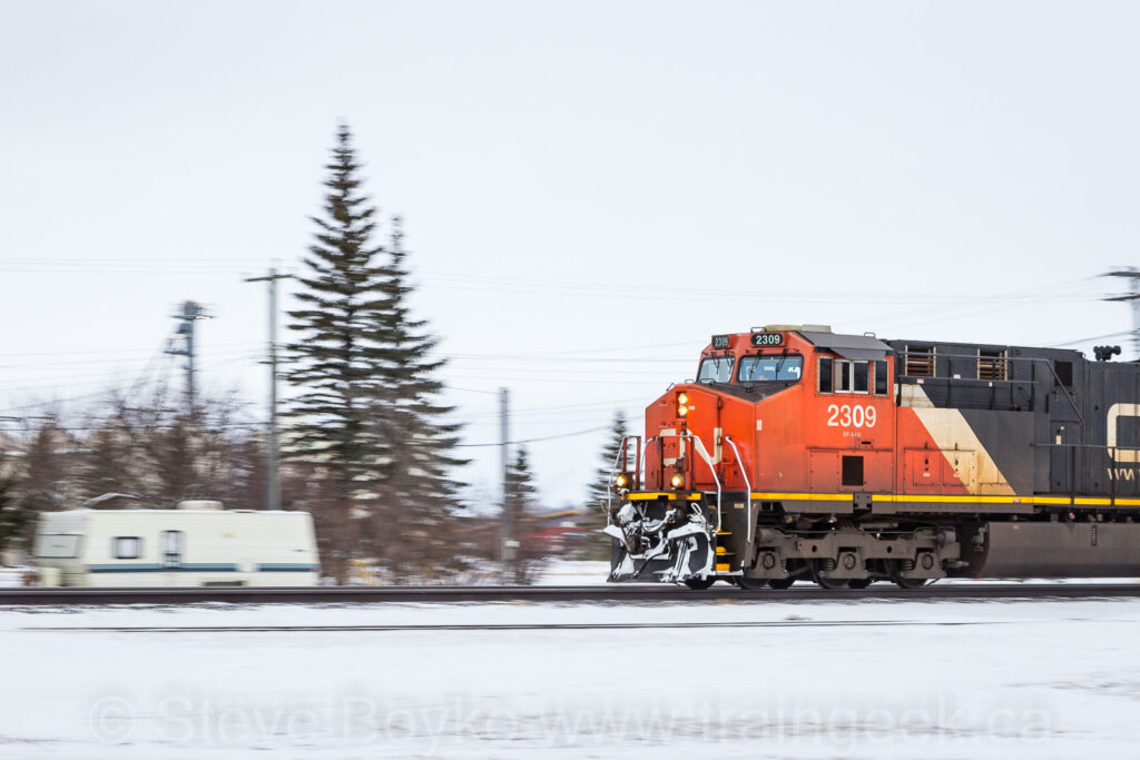 CN 2309 and the trailer
