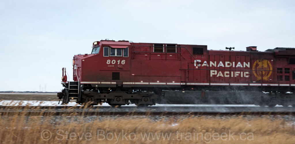 CP 8016 at speed