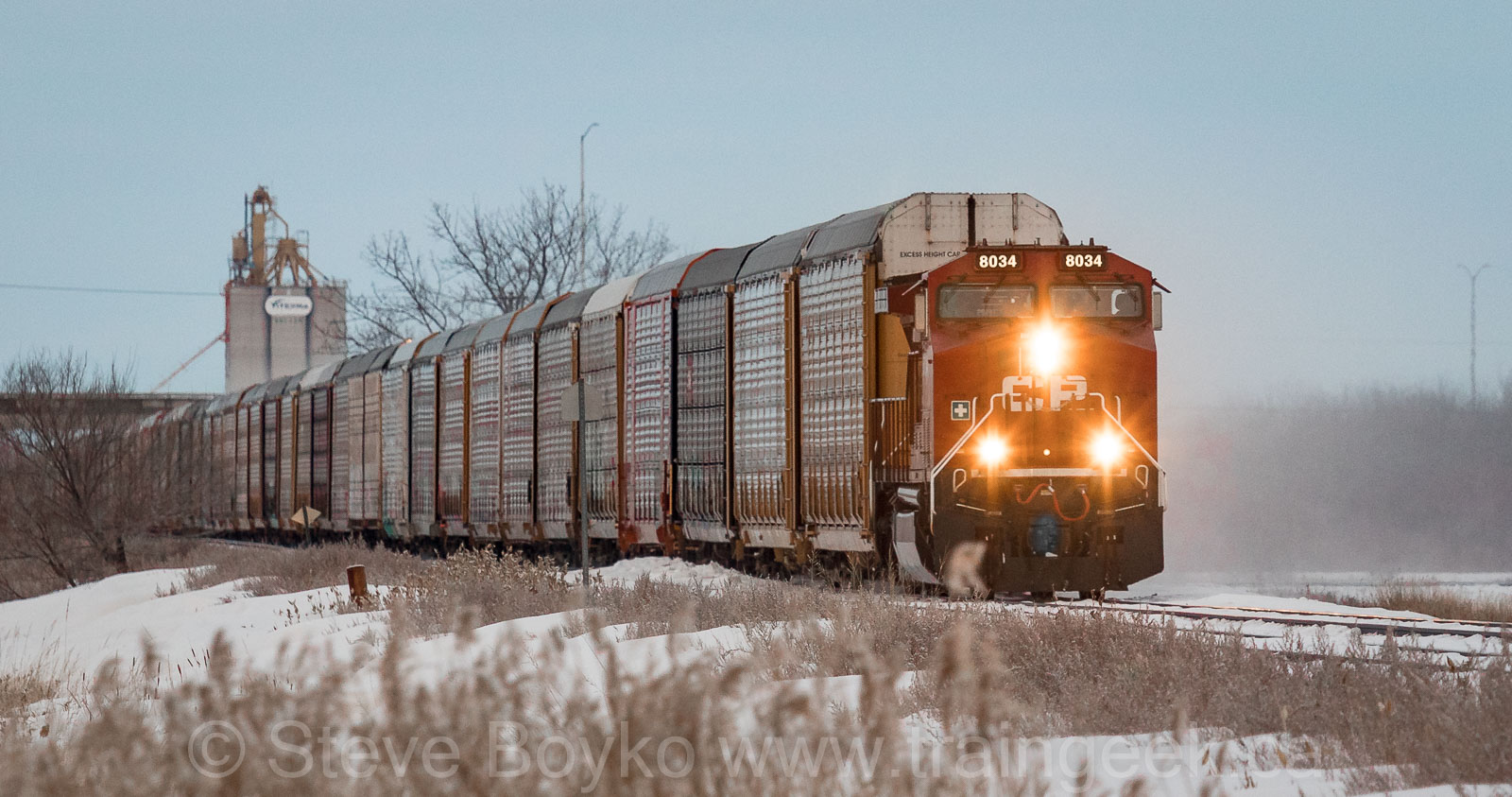 CP 834 rolling into Winnipeg