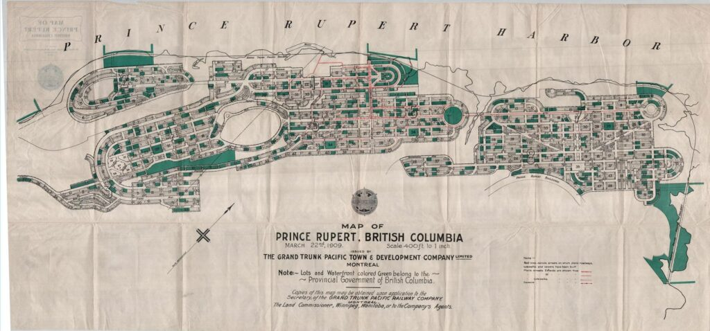 Map of Prince Rupert, BC