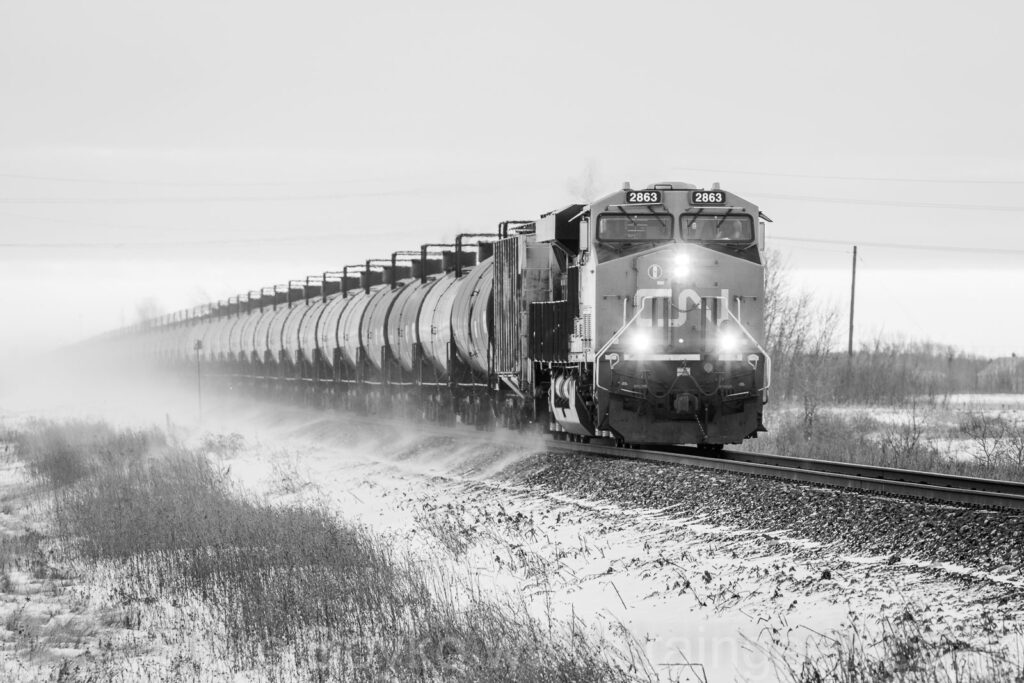 CN 2863 blowing some snow