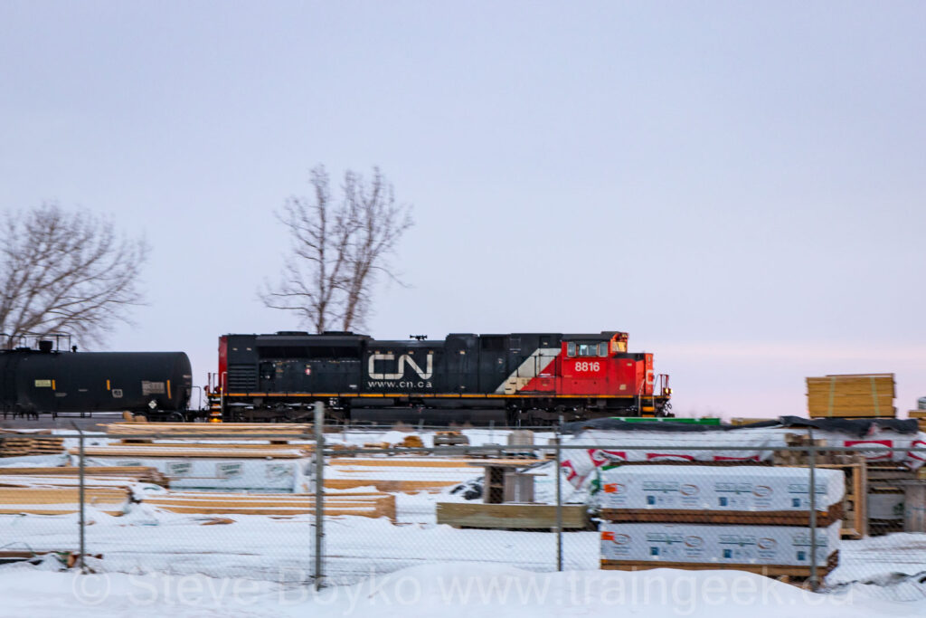 CN 8816 Eastbound at Hall Road