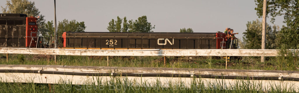 Ex NAR #203, now CN 252, Winnipeg, 2018 paired with CN 7251