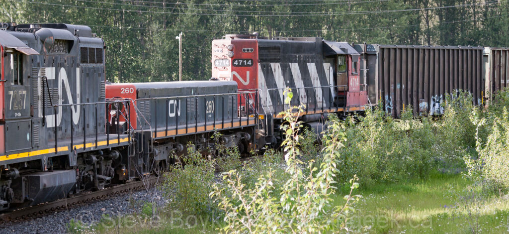 CN 260 (ex NAR 205) near Prince George, BC in 2014