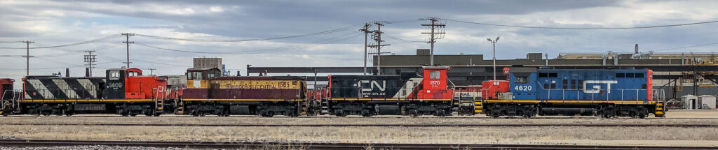 CN 1409, WC 1565, CN 1570 and GT 4620