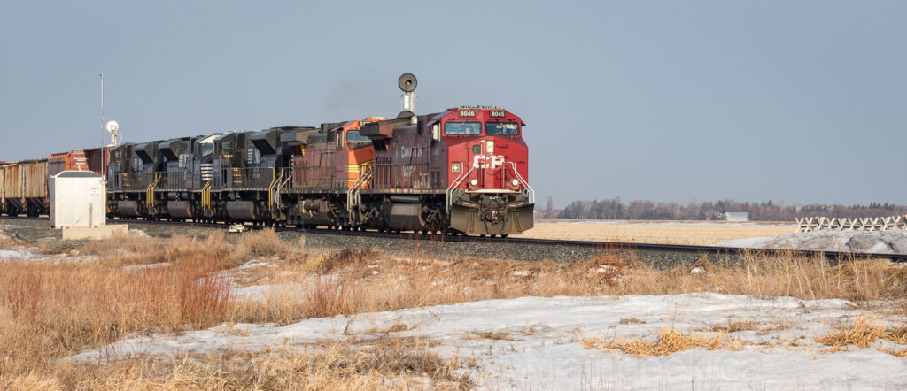 Rolling past the Meadows siding