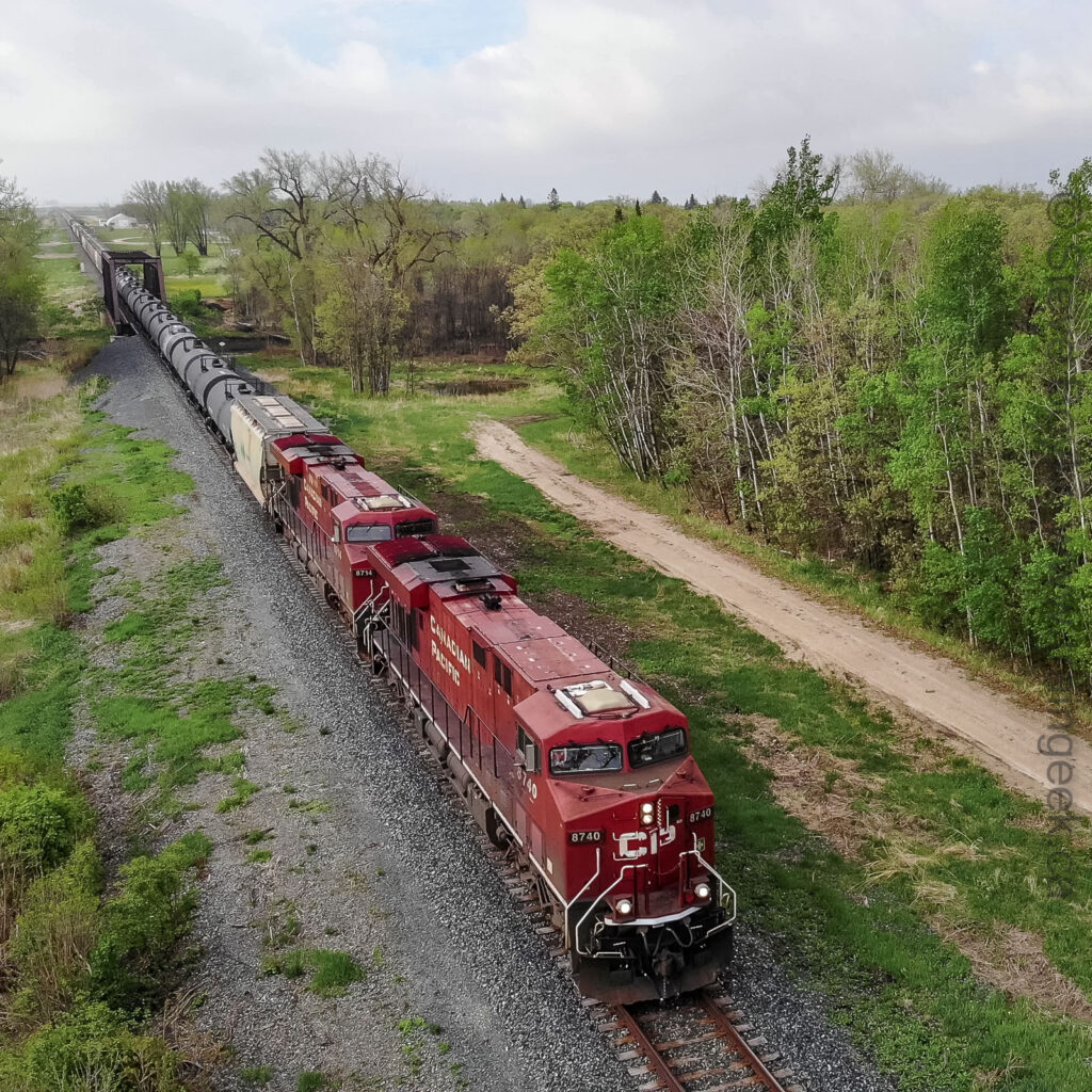 CP 8740 and company, from above