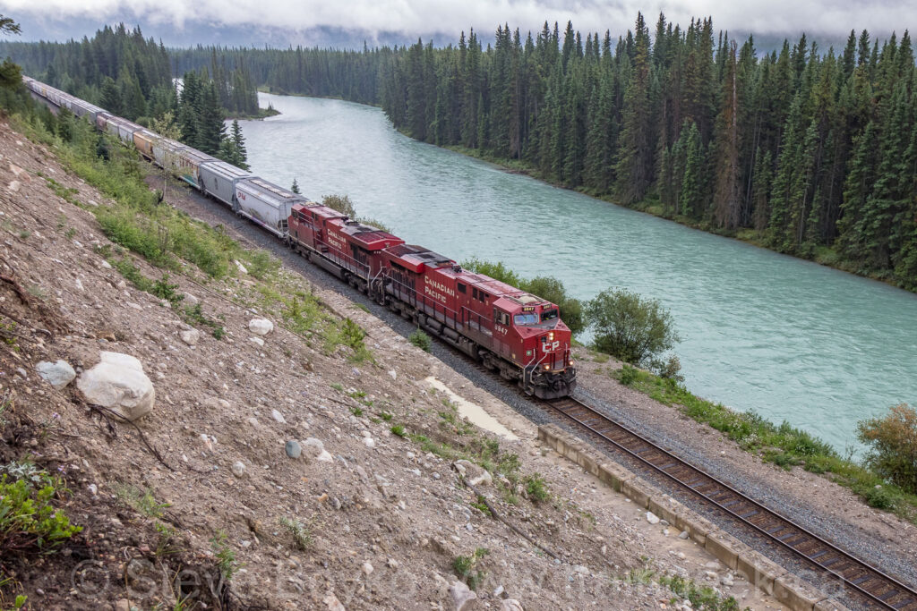 CP 8947 passing the Bow River