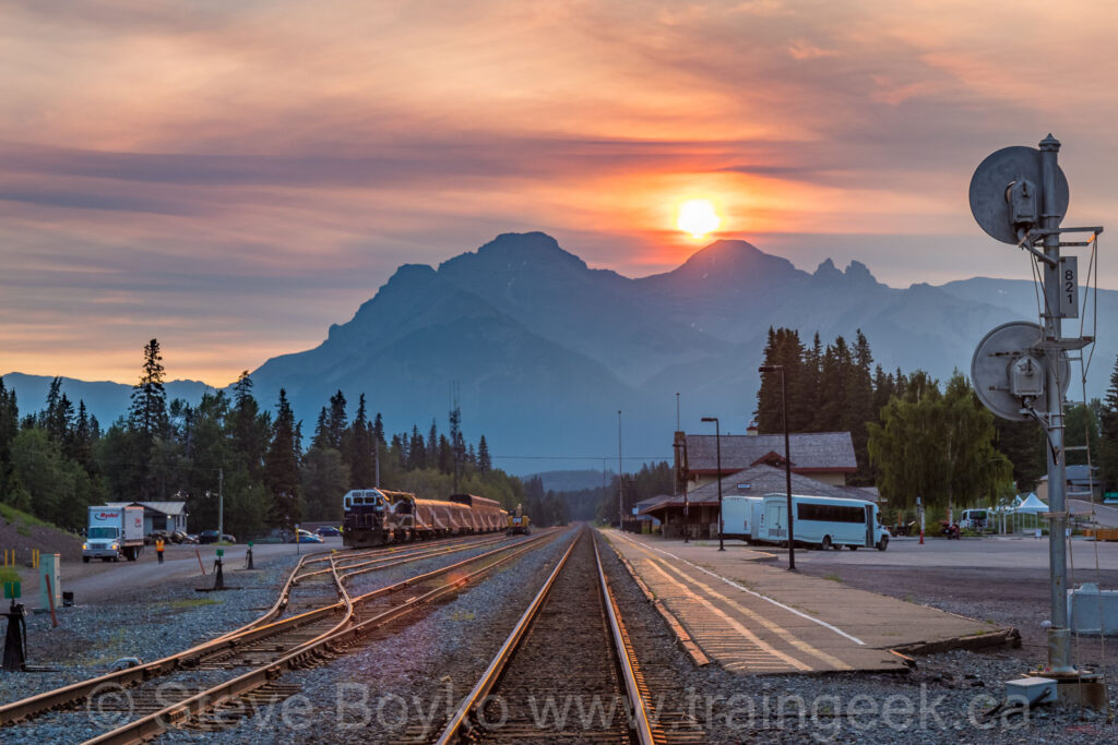 Sunrise over the Rocky Mountaineer