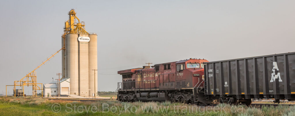 CP 9701 on the tail end of the eastbound