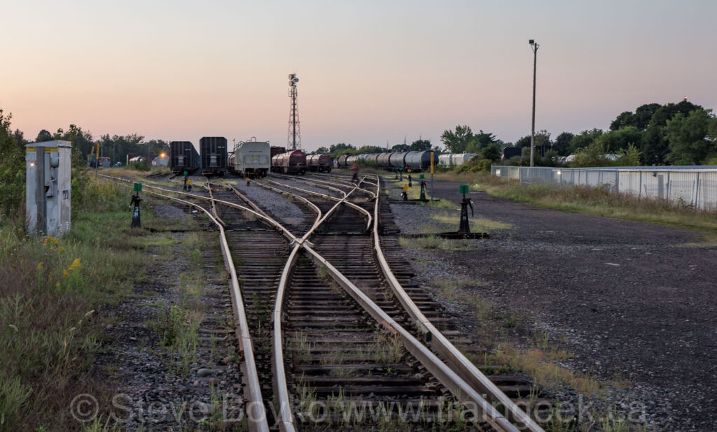 Huron Central yard in Sault Ste. Marie
