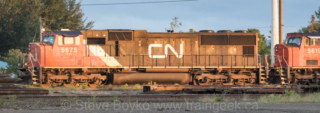 CN 5675 and 5619 in Sault Ste Marie